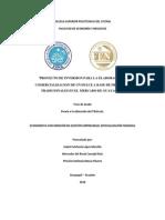 """""""Proyecto de Inversion Para La Elaboracion y Negocios"""