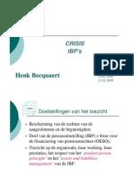 2009-H Becquaert Crisis IBPs