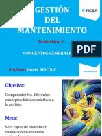 CoQWnceptos Mantto - Objetivos