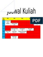 Jadwal Kuliah 2015 Semester 8