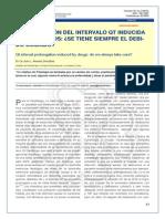 prolongacion en el intervalo del qt inducida por farmaco