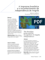 A Imprensa Brasileira e o Reconhecimento Da Independência de Angola