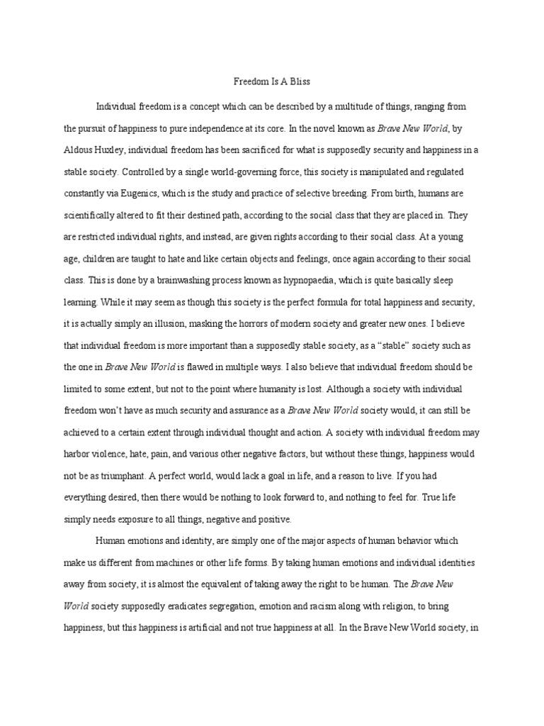 DesireeпїЅs Baby essay - World