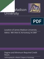 james madison university profile