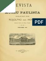 IHERING,Hermann. 1907. A Anthropologia no Estado de São Paulo