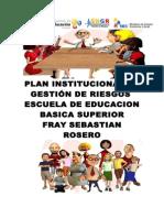 Plan Institucional de Gestión de Riesgos Para Centros Educativos