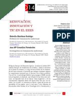 Icono14. Nº14. Renovación, Innovación y TIC en el EEES