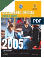 2005 Demre 02 Modelo Preguntas Matematica