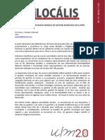 Propuesta de Un Nuevo Modelo de Gestión Municipal en El Perú - Locálisis