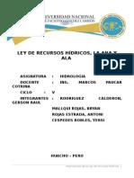 Ley de R. Hidricos