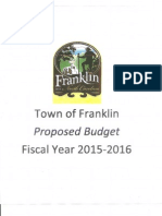 FY 2015-2016 Budget Message - Franklin
