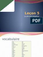 Leçon 5