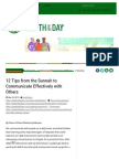Hadith of the Day – 12 Tips From the Sunnah to Communicate Effectively With Others