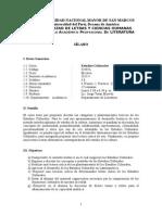 Sílabo. Estudios Culturales. (2015-I).