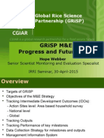 Global Rice Science Partnership (GRiSP) monitoring and evaluation system for results based management