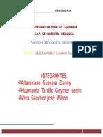 Accion Geologica de Los Lagos
