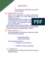 HIDROSTATICA 3/ ingenieria