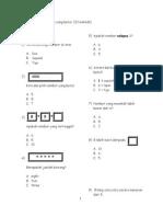 ujian matematik tahun 1