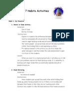 7 Habits Activities