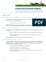 Accommodation Application Manual