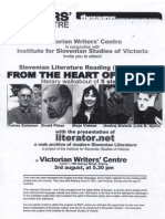 Slovenian Literary Tour Down Under 2001