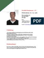 Fredrik Pontusson CV (Svenska)