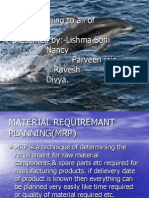 Material Requiremant Mrp