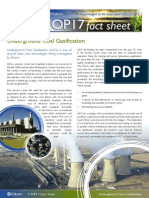 Underground Coal Gasification UCG