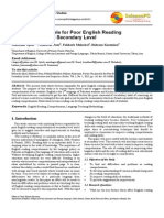 Factors Responsible for Poor English Reading Comprehension at Secondary Level