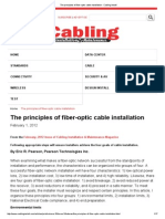 The Principles of Fiber-optic Cable Installation - Cabling Install