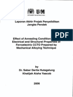 Effect of Annealing Condition On