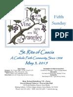 St. Rita Parish Bulletin 5/3/2015