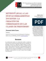 Icono14. Nº14. Revisión legal a las nuevas herramientas docentes