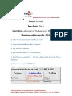 Baindump2go New Updated 70-411 Dumps Free Download (21-30)