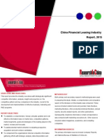 China Financial Leasing Industry Report, 2015