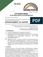 1994-03-16_NEUES FORUM Leipzig_Offener Brief an Stadtrat