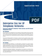 Enterprise Fax for IP Telephony Networks An
