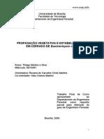 PROPAGAÇÃO VEGETATIVA E ESTABELECIMENTO EM CERRADO DE Banisteriopsis caapi
