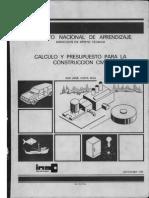 Ina Calculo y Presupuesto Obra Civil