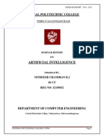 Seminar Report on Artificial Intelligence