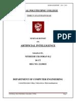 Seminar Report on Artificial Intelligence