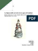 La figura della servetta in tre opere di Goldoni