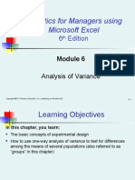 Module 6 Analysis of Variance