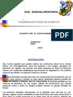 Conservacion Quimica de Los Alimentos.