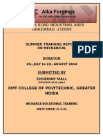 Summer Training Report of Forging Processes.