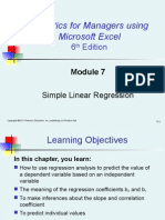 Module 7 Simple Linear Regression