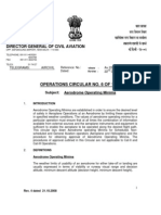 DGCA Operations Circular No 6 1999 Aerodrome Minima