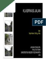 01. Klasifikasi Jalan Raya_22 September 2014