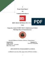 HDFC ERGO SummeerIntern Ship Project Report