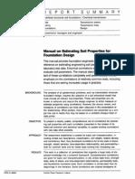 Manual on Estimating Soil Properties for Foundation Design